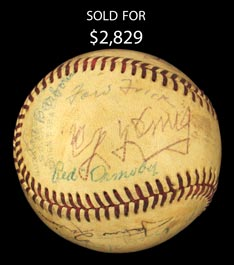 Ray Schalk's July 25, 1955 Hall of Fame Induction Day Signed Ball