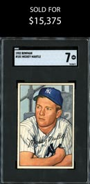 1952 Bowman Baseball #101 Mickey Mantle - SGC 7 NM
