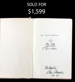 1927 Charlie Chaplin Boldly Signed