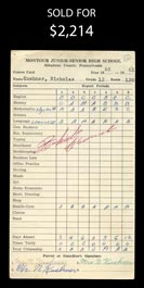 Roberto Clemente 1961 Boldly Signed Senior Student's High School Report Card - PSA/DNA LOA
