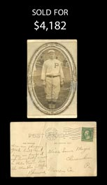 Incredible 1911 Sherry Magee Signed Photo Postcard with Baseball Content to His Sister – Full JSA