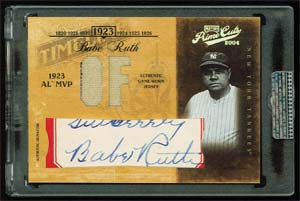 Prime Cuts Babe Ruth Autographed Baseball Card 1/1