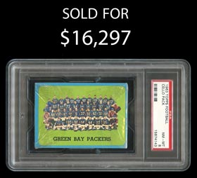 Extremely Scarce 1963 Topps Football Unopened Cello Pack PSA NM-MT 8 - None Better!