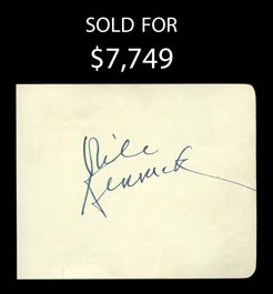 1938 Nile Kinnick Signed Autograph Album Page - JSA Graded