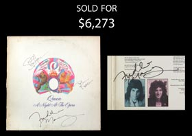 1975 Queen Album with (4) Autographs Including (2) Freddie Mercury Examples - JSA
