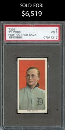1909-11 T206 White Borders Ty Cobb (Red Portrait) - PSA VG 3