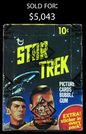 1976 Topps Star Trek Unopened Box - BBCE Wrapped