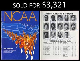 1982 UNC National Champions Team-Signed Program with Jordan - Full JSA