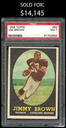 1958 Topps Football #62 Jim Brown Rookie - PSA NM 7