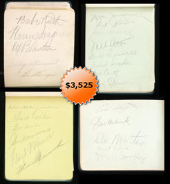 Babe Ruth, Mel Ott, Honus Wagner Signed Autograph Book Signed by (86) Baseball Players
