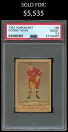 1951-52 Parkhurst Hockey #66 Gordie Howe Rookie - PSA Good+ 2.5