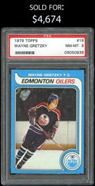 1979-80 Topps Hockey #18 Wayne Gretzky Rookie - PSA NM-MT 8