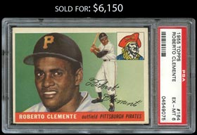 1955 Topps Baseball #164 Roberto Clemente Rookie - PSA EX-MT 6