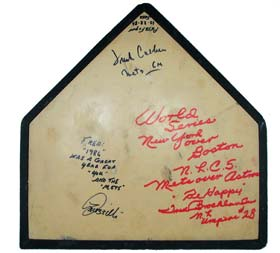 THE Home Plate used in the 1986 Mets/Red Sox World Series