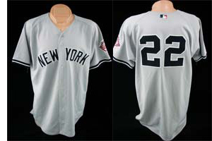 2003 Roger Clemens Game Used New York Yankees Jersey