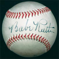 Stunning Single Signed Autographed Babe Ruth Baseball w/ LOA's from BOTH PSA/DNA and JSA