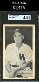 1950s Mascot Dog Food Bucky Harris SGC 4.5 VG-EX+ - Only Graded by SGC or PSA and First Offered!