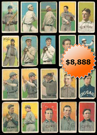 1909-11 T206 White Border Tobacco Baseball Card Near Complete Set of (475/524) Different with (53) Hall of Famers & Stars