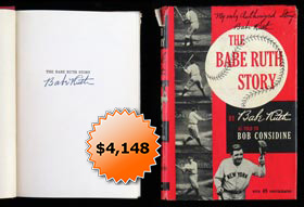 "Babe Ruth Signed Autographed ""The Babe Ruth Story"" First Edition Book - Full JSA"