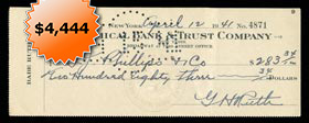 Babe Ruth 1941 Signed Autographed Personal Bank Check - Full JSA