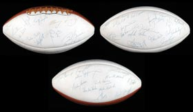 1972 Miami Dolphins Team-Signed Football Undefeated World Champions - Full JSA