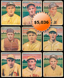 1933 R300 George C. Miller Baseball Card Near Set of (30/32) Cards--Uncancelled