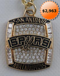 2006-07 San Antonio Spurs 14K Gold NBA Championship Pendant With (69) Genuine Diamonds