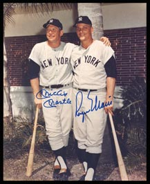 Mickey Mantle & Roger Maris Dual-Signed Autographed 8x10 Photograph with Full James Spence Authentications