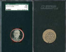 1912 E270 Colgan�s Chips Red Borders Ty Cobb SGC 10�Only Two Graded