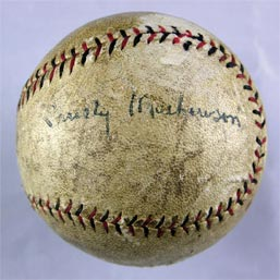 Christy Mathewson Autographed Single Signed Baseball