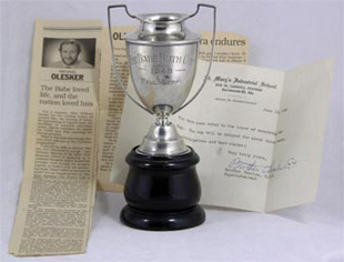 1948 Babe Ruth St. Mary's School Baseball Trophy