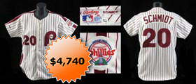 Mike Schmidt 1988 Philadelphia Phillies Signed Game-Worn Home Jersey - Full Miedema and Full JSA