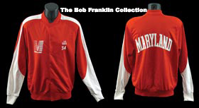 Len Bias 1982-1986 Game-Worn University of Maryland Warm-Up Jacket
