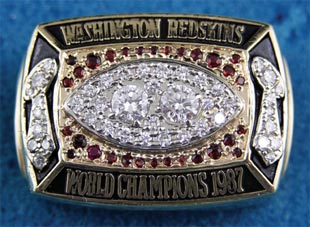 1987 Washington Redskins Tim Morrison Original Super Bowl Ring
