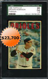 1968 Topps 3-D Brooks Robinson Prototype SGC 20�Highest Graded Example in Hobby