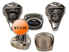 Darrell Jackson 2005 NFC Champions Seattle Seahawks Super Bowl 40 XL Ring