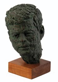 "Robert Berks 1963 John F. Kennedy 1st Edition ""Inaugural Head"" Sculpture"
