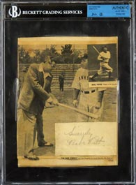 Babe Ruth Cut Signature Autograph JSA/BGS Authentic