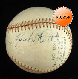 "Babe Ruth Single-Signed Autographed ""Harwood"" Baseball With Full JSA"