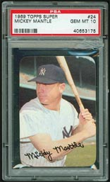 1969 Mickey Mantle Topps Super PSA 10