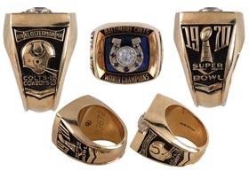 1970 Baltimore Colts Super Bowl V Ring Awarded to GM Don Klosterman