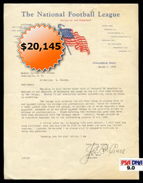 1933 Correspondence Composed and Signed by NFL President Joe Carr - Full JSA and PSA/DNA 9