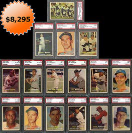 1957 Topps Baseball Complete Set of (407) Cards with (42) PSA Graded--Sharp!