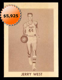 1961-62 Bell Brand Los Angeles Lakers Jerry West Rookie Card�First Offered!