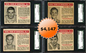 1952 Royal Desserts Basketball Complete Set of (8/8) SGC Graded Cards with Highest Graded Mikan