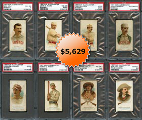 1887 N28 Allen & Ginter Complete PSA Graded Set of (50) Cards