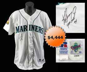 Ken Griffey, Jr. 1994 Signed Game-Worn Seattle Mariners Home Jersey - Full Miedema and Full JSA LOAs