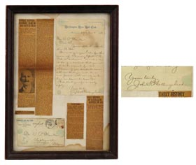 1884 Holly Hollingshead Washington Nationals Handwritten Letter With Great Baseball Content