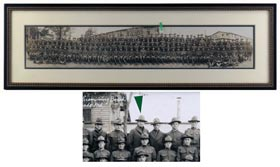 Shoeless Joe Jackson 1918 Type I U.S. Army Panoramic Photograph - Pristine!
