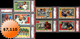 1955 Topps All-American Football Complete PSA Graded Set of (100) Cards--#27 on Registry